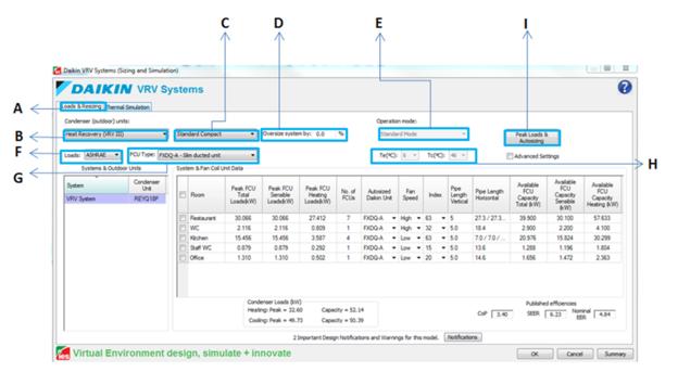 Daikin VRV Systems (Sizing and Simulation) Application