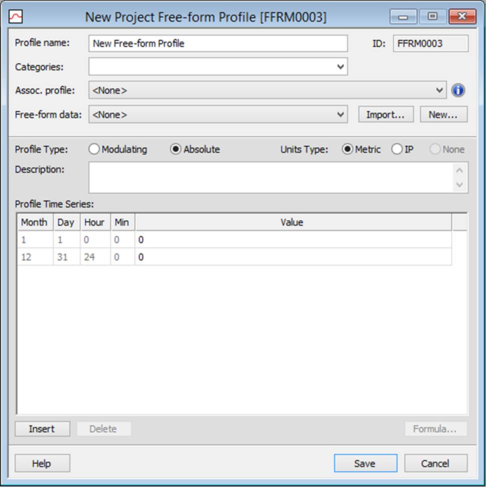 Free-form Profiles
